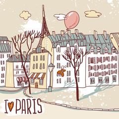 Foto op Canvas Illustratie Parijs paris urban sketch