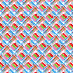 Poster ZigZag Rautenmuster popart helle Farben
