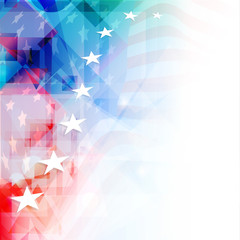 4th of July, American Independence Day colorful background with