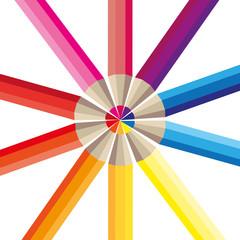 Farbige Buntstifte Bunt Malen zeichnen Kreis