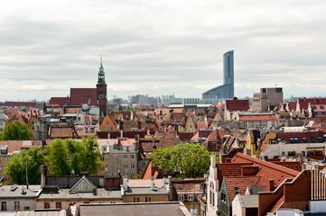 Obraz Wrocław widok z góry - fototapety do salonu