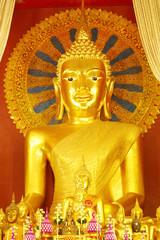 Buddha statue in church,Wat Pra Singh,Chiang-Mai,Thailand
