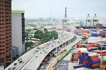 Foto op Canvas Singapore Singapore industrial
