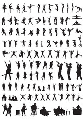 people silhouettes of dance & music