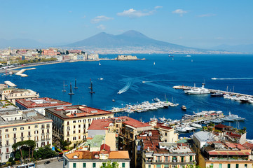 Foto op Plexiglas Napels wonderful Naples panoramic view with Vesuvius