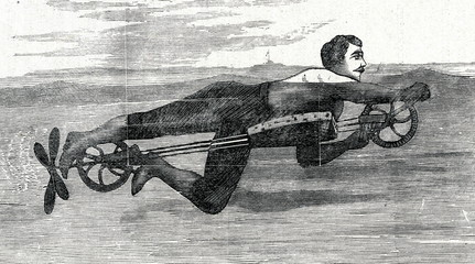 New american swimming machine (ca. 1890)