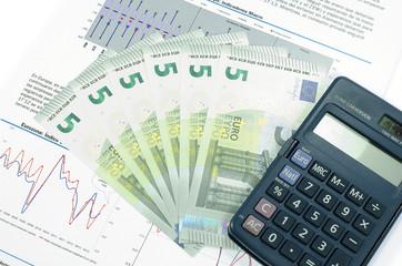 New 2013 five euro banknotes, economy concept