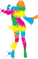 Logo Design Dancing Woman