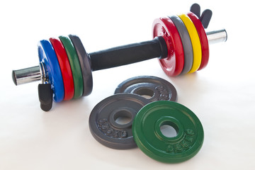 Dumbbell with accessories