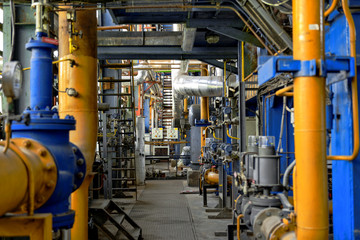 Industrial interior of a power plant