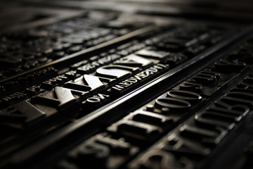 Old Victorian Printing Press Letters