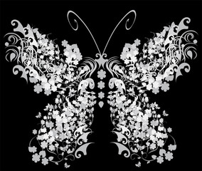 vector vintage butterfly