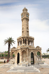 Photo sur Aluminium Artistique Historical Clock Tower of Izmir, Turkey