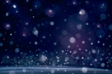 Vector of winter snowfall background.