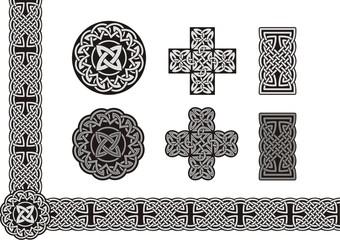 Celtic vector tied knot art