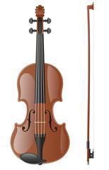 violin vector illustration
