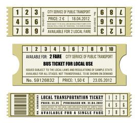 Bus ticket set