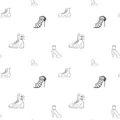 Shoe seamless pattern