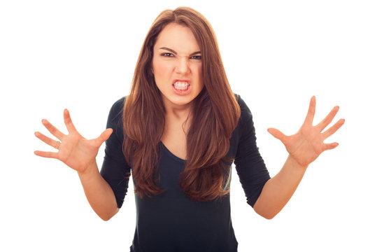 angry and rage woman