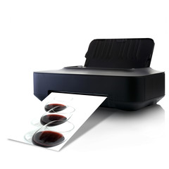 Printer and picture with Three Glasses Of Red Wine