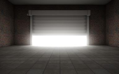Old empty garage
