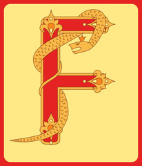 Initial F in old russian style