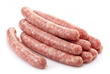 fresh raw meat sausages