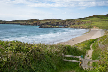 Wall Mural - Wales Coastal Path Whitesands Bay Pembrokeshire UK