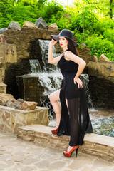 Elegant woman in park