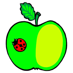apple and ladybird