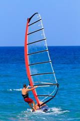 Man windsurfing Recreation