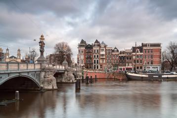 Bridge and achitecture in Amsterdam