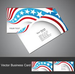 American Flag 4th july business card set  illustration