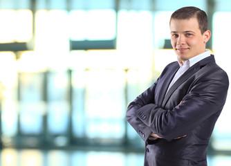 Young, beautiful, successful businessman.