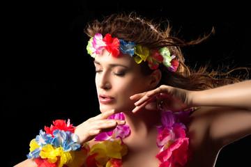 Beautiful Luau Party Girl. Hula Dance