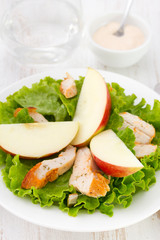 salad with meat and apple