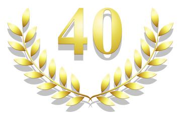 Lauriers en or 40