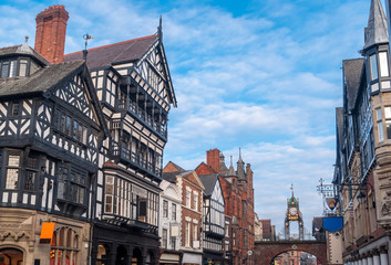 Chester, England, Eastgate clock Wall mural
