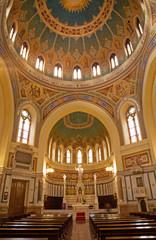 Madrid - Mosaic cupola and presbytery of Iglesia de San Manue