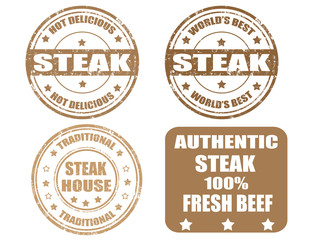 Set of  steak stamp
