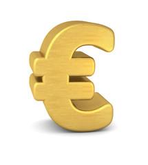 symbol euro gold vertikal