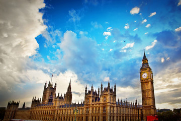 Wall Mural - London, the UK. Big Ben, the Palace of Westminster