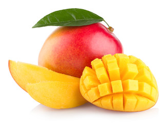 Wall Murals Fruits mango fruit isolated on white background
