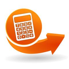 Obraz calculatrice sur bouton web orange - fototapety do salonu