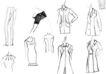 finishing details of women dresses