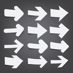 White paper arrows.