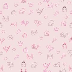 Princess seamless pattern