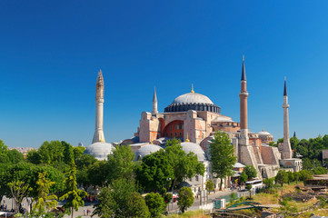 View of the Hagia Sophia in Istanbul, Turkey