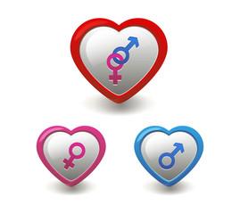 Gender Sign In Love Shape