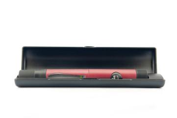 Insulin pen injection in black case